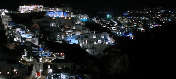 Santorini by night by Bentivoglio Photography