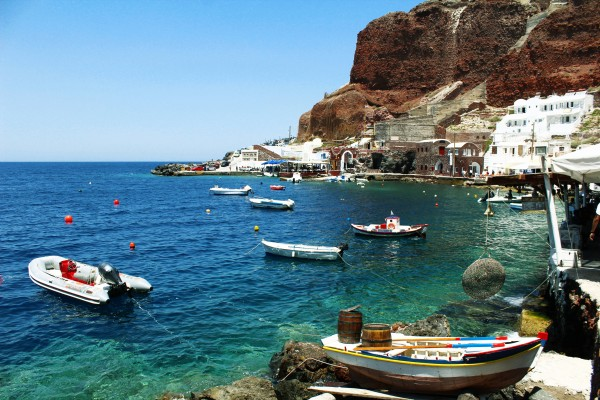 Old Port Santorini by Bentivoglio Photography