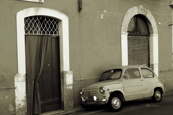 Vintage Car in Black and White by Bentivoglio Photography