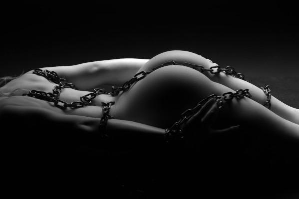 bondage_nude_woman_black_white_bodyscape by Alessandrodellatorre