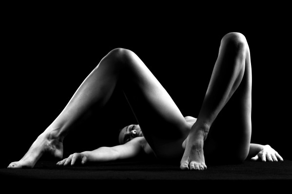 sexy girl young sensual woman bw by Alessandrodellatorre