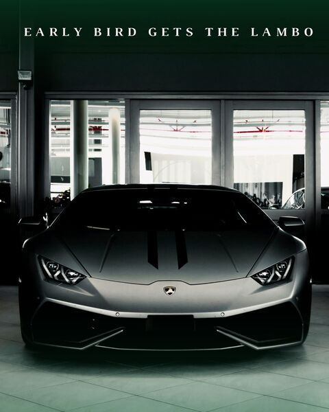 Early Bird Gets The Lambo by Ander Artz