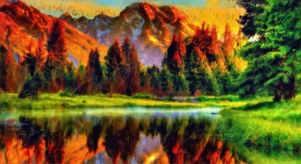 Mountain Lake  Digital Download