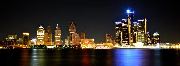Detroit Skyline Digital Download