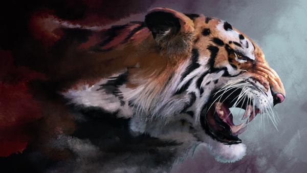 Lunging Tiger Digital Download