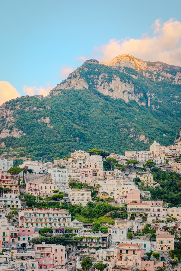 Positano Town and Mountain by AngelaSorrentino