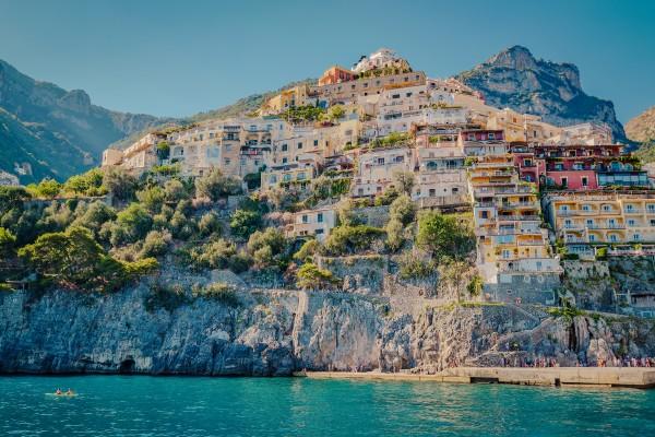 Positano seen from Sea Amalfi coast Italy by AngelaSorrentino