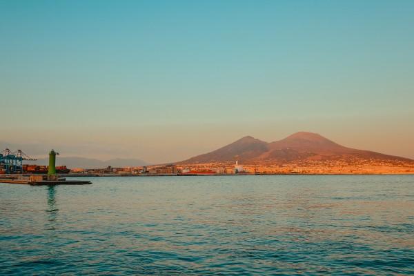 Vesuvio at Sunset  by AngelaSorrentino