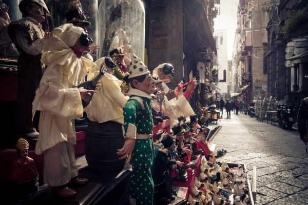 Pulcinella and other puppets in Napoli by AngelaSorrentino