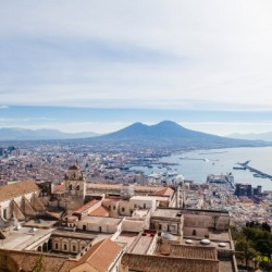 View of Naples with Vesuvio and the Gulf Italy by AngelaSorrentino