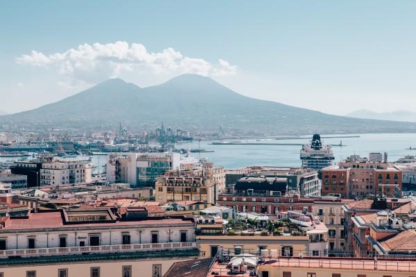 View of Naples with Vesuvio Italy by AngelaSorrentino