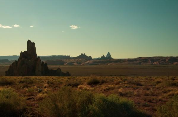 Desert Scene Sunset by Anthony M Farber