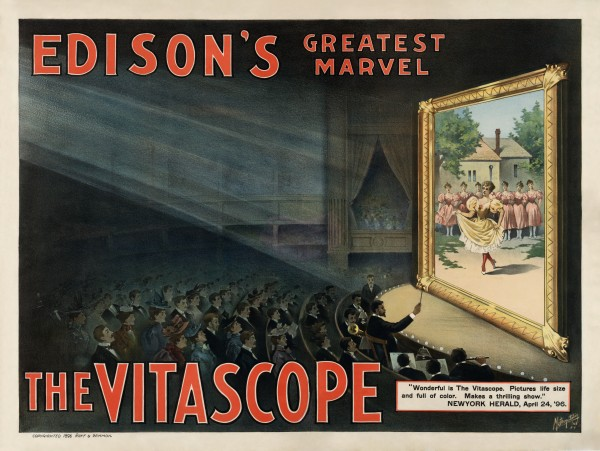 Edisons Greatest Marvel The Vitascope by Raff & Gammon by Art Maiden