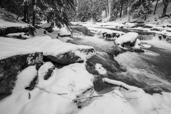 Buttermilk Falls ap 2736 B&W by Artistic Photography