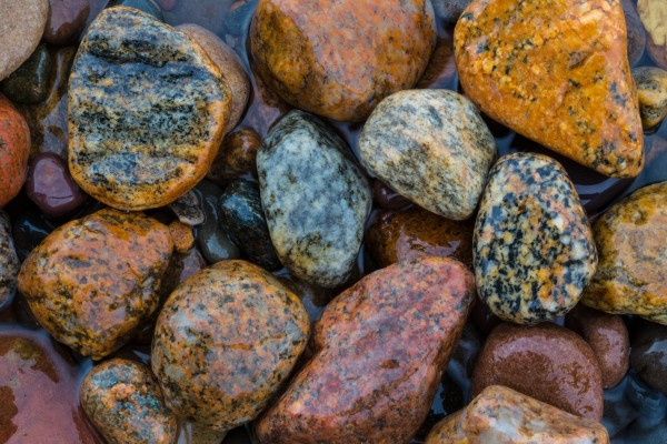 Granite Pebbles ap 2544 by Artistic Photography
