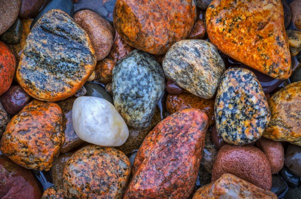 Granite Pebbles ap 2545 by Artistic Photography