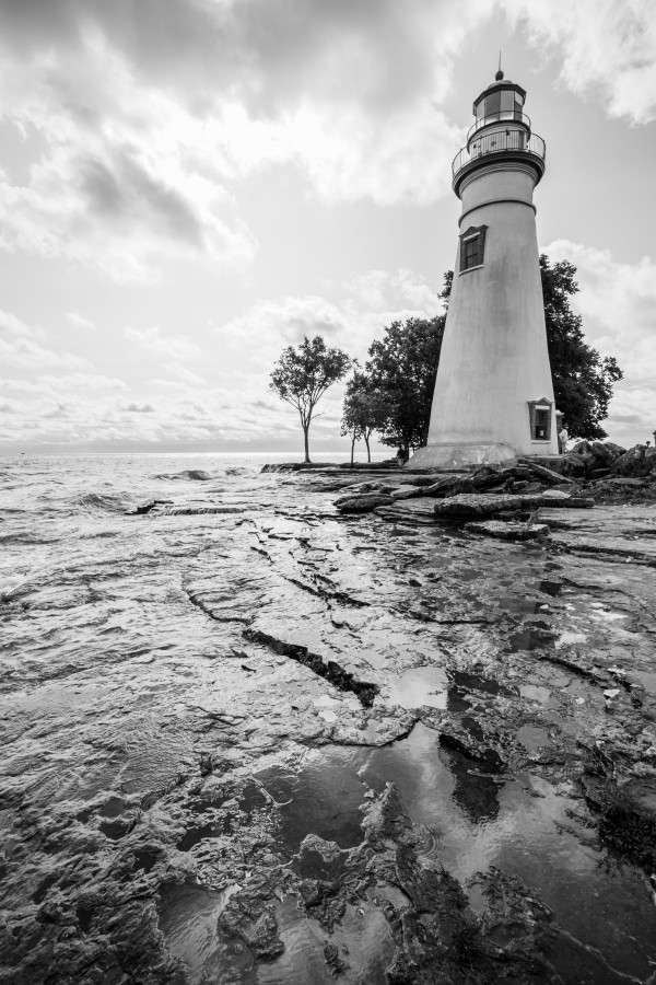 Marblehead Lighthouse ap 2398 B&W by Artistic Photography