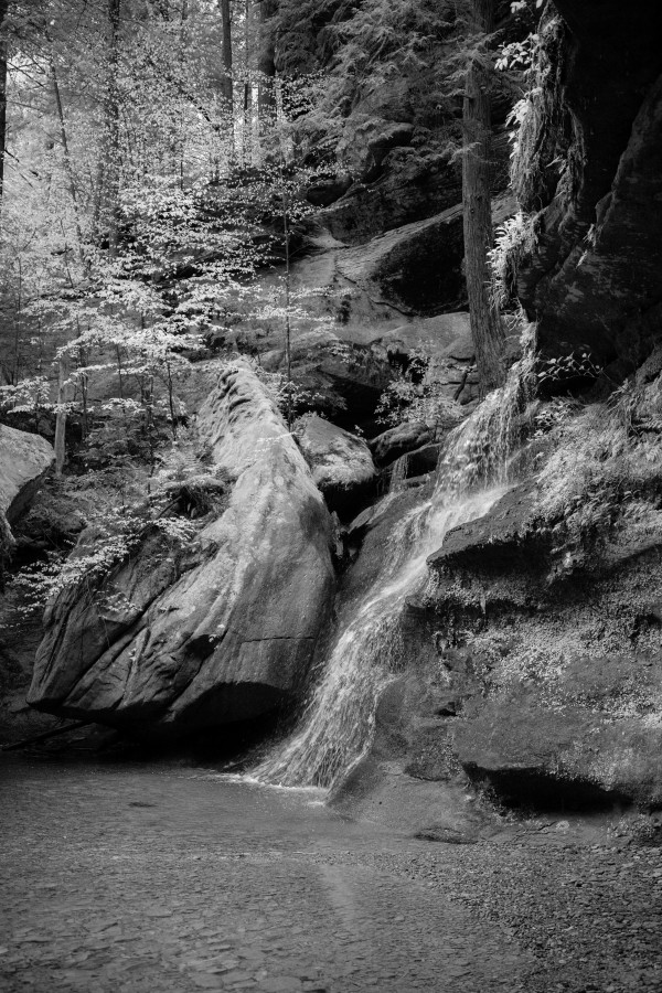 Queer Creek Gorge ap 2061 B&W by Artistic Photography