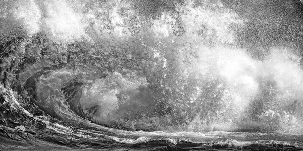 Wave Curl ap 2665 B&W by Artistic Photography