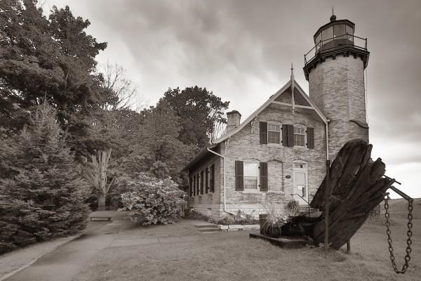White River Light ap 2449 B&W by Artistic Photography