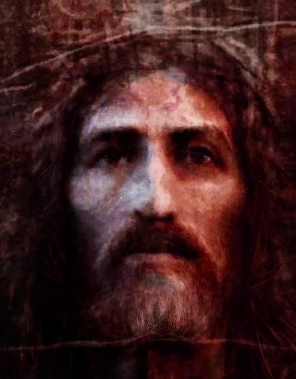 Christ face reconstruction claret by ArtofCaelia
