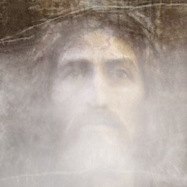 Christ face hidden in fog by ArtofCaelia