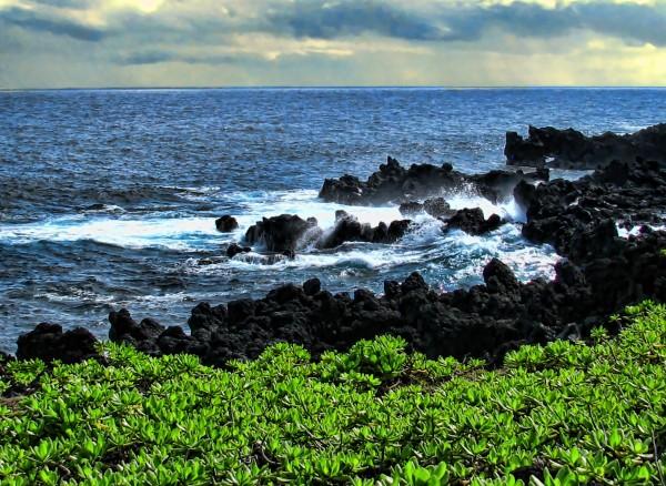 Hana Beach Hawaii by Aurelia Schanzenbacher Sisters Fine Arts