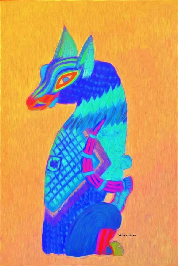 Blue Cat by Aurelia Schanzenbacher Sisters Fine Arts
