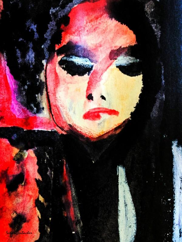 Lady in Black by Aurelia Schanzenbacher Sisters Fine Arts