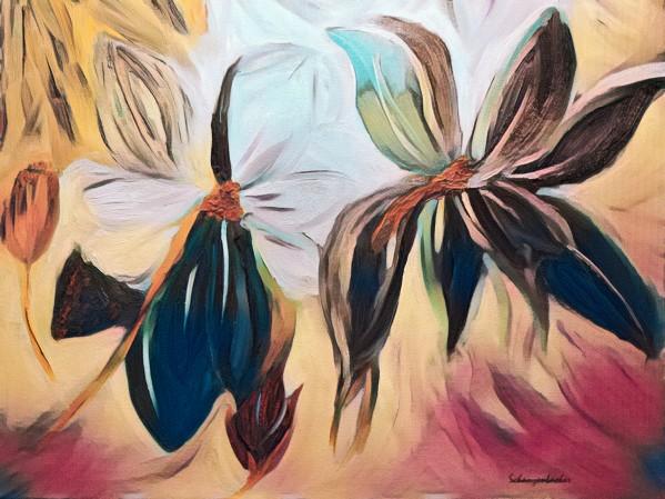 Magnolias  by Aurelia Schanzenbacher Sisters Fine Arts