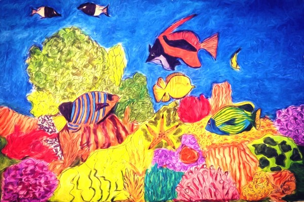 Under the Sea by Aurelia Schanzenbacher Sisters Fine Arts