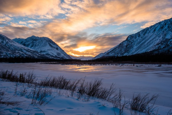Alaskan Winter  1 by Aurelio Matthew Leal