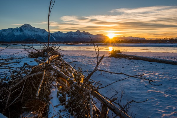 Alaskan Winter Sun by Aurelio Matthew Leal