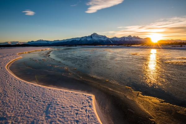 Alaskan Winter Sunset by Aurelio Matthew Leal