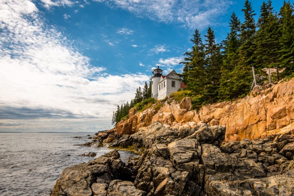 Lighthouse on the Cliff Acadia NP by Aurelio Matthew Leal
