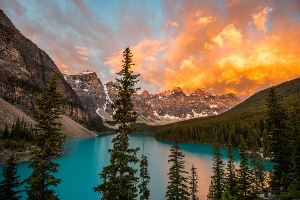 Moraine on Fire by Aurelio Matthew Leal