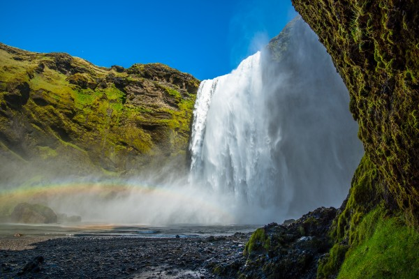 Skogafoss up Close by Aurelio Matthew Leal