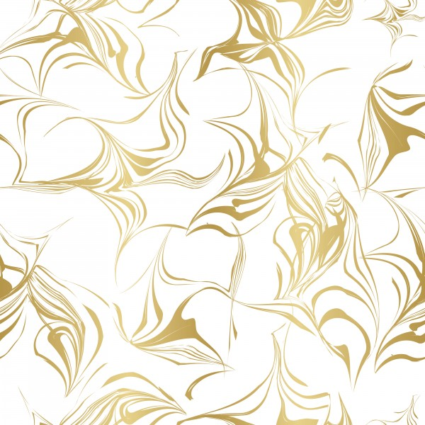 Elegant Abstract Gold and white Repeat Pattern by Ayesha Khan
