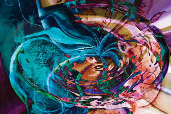 colorful abstract swirl art by BBS Art