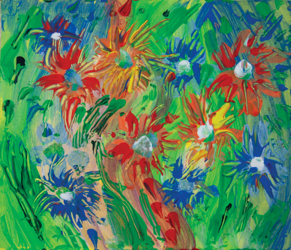 multicolored flowers impression by BBS Art