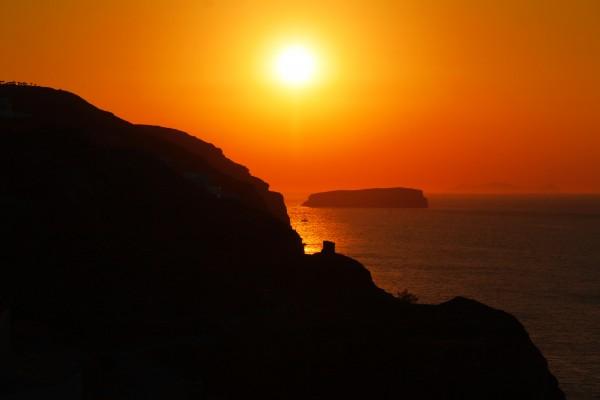 Sunset Landscape Santorini  by Bentivoglio Photography