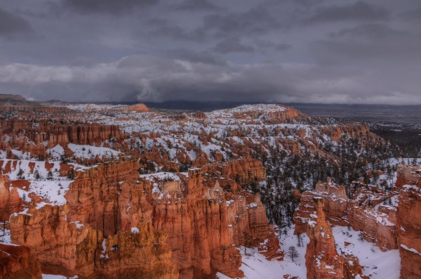 STORM OVER BRYCE CANYON by Bill Sherrell
