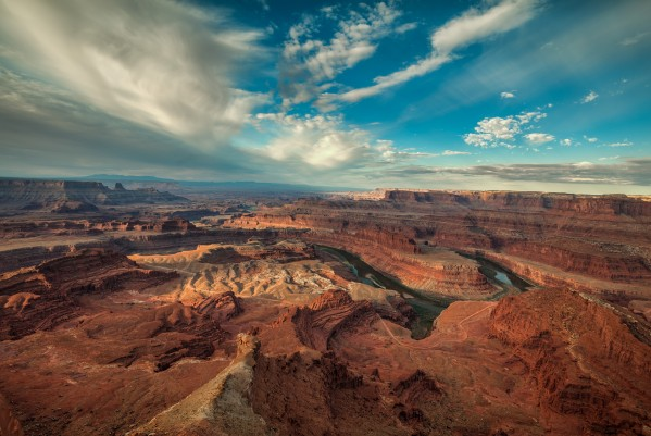 SUNRISE OVER DEAD HORSE CANYON-UTAH-1 by Bill Sherrell
