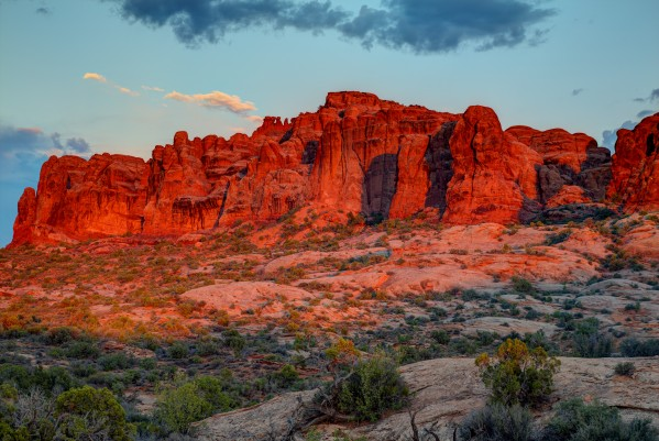 THE MAGIC OF SUNSET IN UTAH by Bill Sherrell
