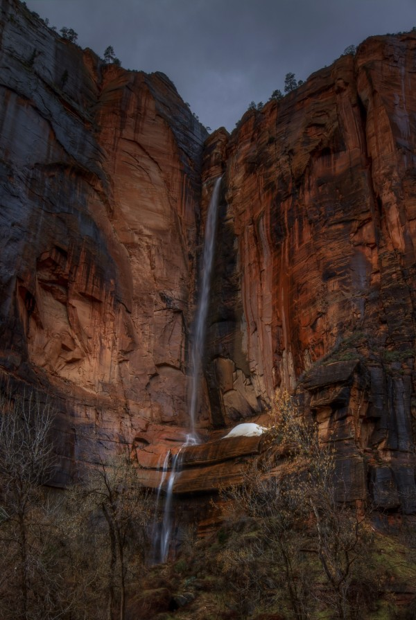 WATERFALL BEAUTY AT ZION by Bill Sherrell