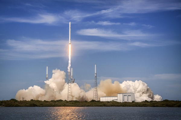 Falcon 9 Lifts Off from Space Launch Complex 40 by Bill Swartwout Photography