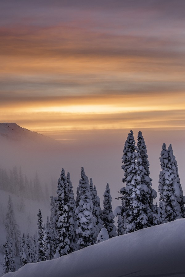 Winter sunsets  Nelson BC Canada by Billy Stevens media