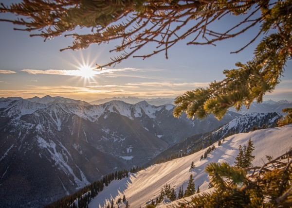 winter sunsets Kootenay backcountry 2021 by Billy Stevens media