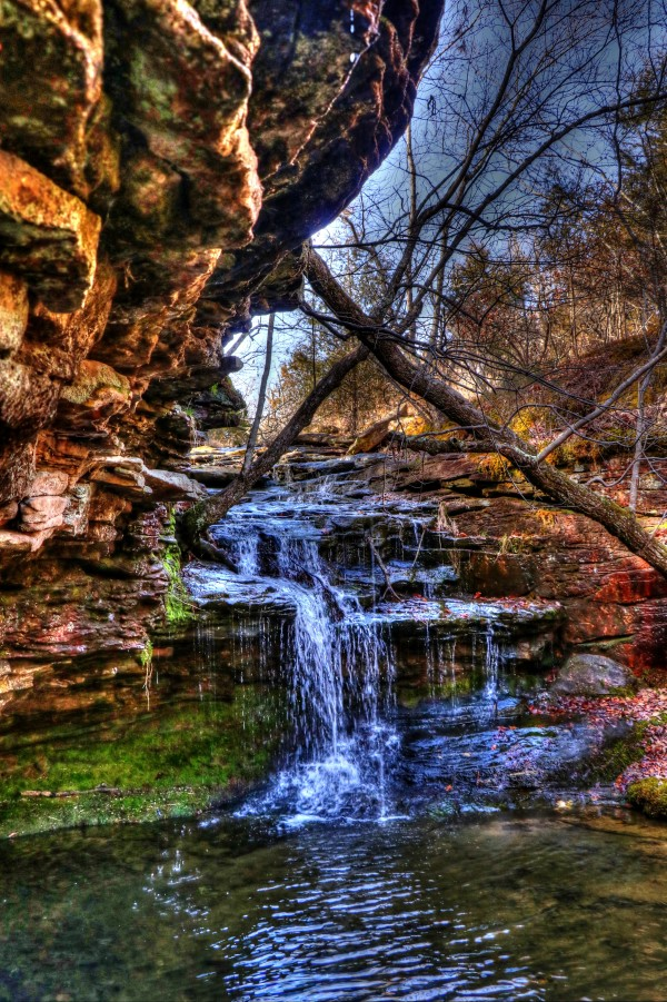 Fern Grotto Waterfall by Bob Vogt