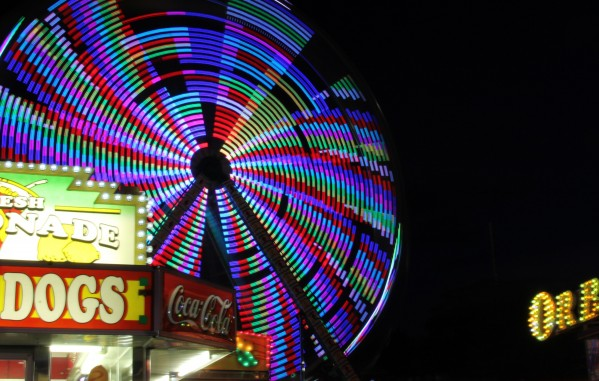 Ferris Wheel at Night by Bob Vogt